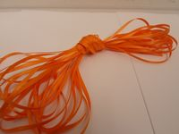 Tangerine Light Orange Satin ribbon 2 10 or 25 metres Double sided 3mm 7mm 10mm 15mm 25mm 38mm 50mm